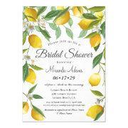 Modern Boho Lemon Summer Bridal Shower Invitation