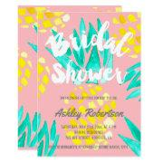 Modern Bridal Shower Spring Watercolor Pineapples
