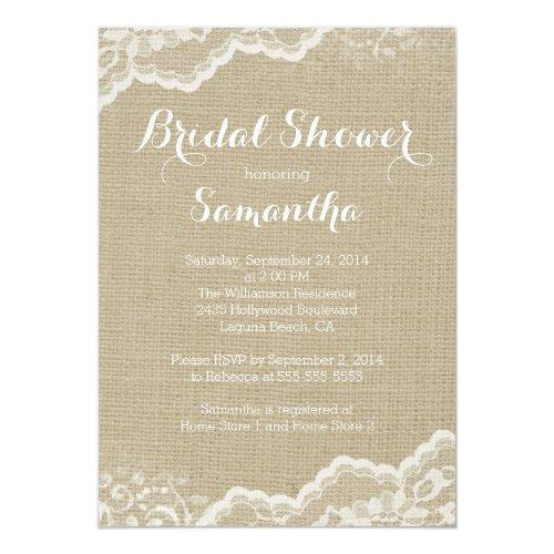 Modern Burlap & Lace Bridal Shower