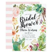 Modern Cactus Succulent Floral Bridal Shower