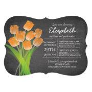 Modern Chalkboard Orange Tulip Bridal Shower