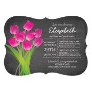 Modern Chalkboard Pink Tulip Bridal Shower
