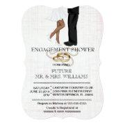 Modern Chic Couple Engagement Shower Invite