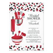 Modern Confetti Kitchen Bridal Shower Invitations