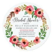 Modern Floral Wreath Bridal Shower