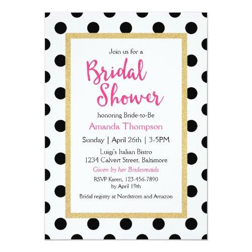 Modern Girly Chic Bridal Shower Invitations