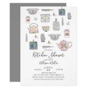 Modern Kitchen Bridal Shower Invitation