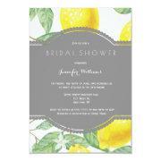 Modern Lemon Bridal Shower