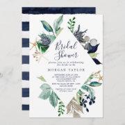 Modern Nautical | Greenery Bridal Shower Invitation