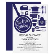 Modern Navy Blue Kitchen Bridal Shower