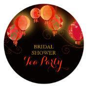 Modern Paper Lanterns Bridal Shower Tea Party