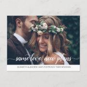 Modern Same Love New Plans Change Of Date Photo Announcement Postinvitations