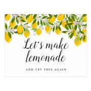 Modern Script Bridal Shower Change Of Date Lemons Postinvitations