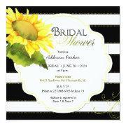 Modern Striped Sunflower Bridal Shower