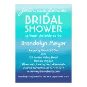 Modern Teal Blue Ocean Bridal Shower