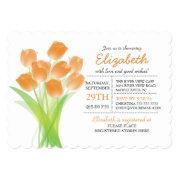 Modern Typographic Orange Tulip Bridal Shower