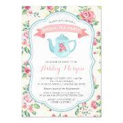 Modern Vintage Floral Bridal Shower Tea Party