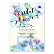 Modern Watercolor Flowers Bridal Shower