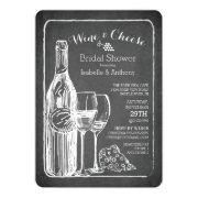 Modern Wine & Cheese Bridal Shower Invitation