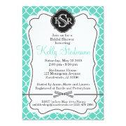 Monogram Tiffany Blue Bridal Shower