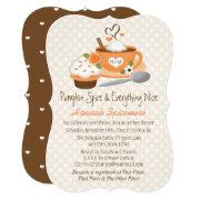 Monogrammed Pumpkin Spice Fall Bridal Shower