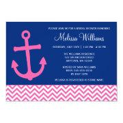 Nautical Anchor Chevron Blue Pink Bridal Shower