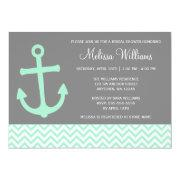 Nautical Anchor Chevron Mint Gray Bridal Shower