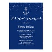 Nautical Anchor Navy Blue Bridal Shower
