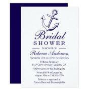 Nautical Blue Bridal Shower Ship Anchor Sailor Invitation