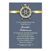 Nautical Blue Golden Bridal Shower