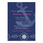 Nautical Bridal Shower Invitation, Pink And Navy