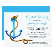 Nautical Bridal Shower Ship Anchor Blue Turquoise