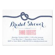 Nautical Bridal Shower Tying The Knot Navy Blue