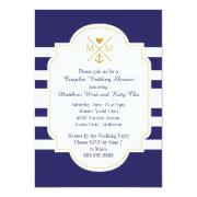 Nautical Monogram Couples Wedding Bridal Shower