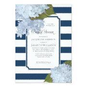 Nautical Navy Blue Hydrangea Modern Bridal Shower