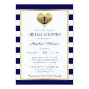Nautical Navy Blue/white Bridal Shower