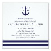 Nautical Navy Bridal Shower Invite