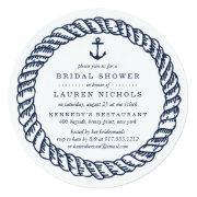 Nautical Navy Rope And Anchor Bridal Shower