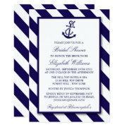 Nautical Stripes & Navy Blue Anchor Bridal Shower