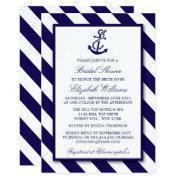 Nautical Stripes & Navy Blue Anchor Bridal Shower