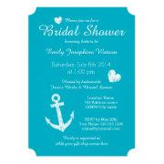 Nautical Turquoise Blue Bridal Shower
