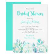 Nautical Watercolor Seashell Bridal Shower