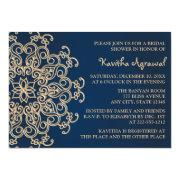 Navy Blue And Gold Indian Style Bridal Shower