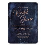 Navy Blue & Rose Gold Bridal Shower