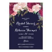 Navy Bridal Shower  Burgundy Pink Floral