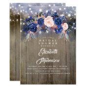 Navy Floral Rustic Bridal Shower
