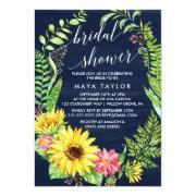 Navy Sunflower Wreath Bridal Shower