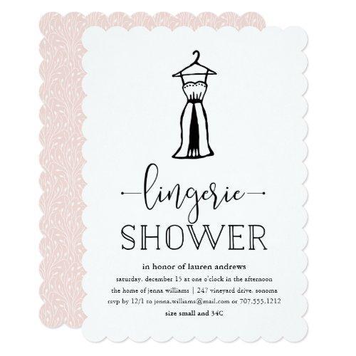 Negligée | Lingerie Shower Invitations