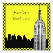 Nyc Skyline2 Etched Esb Checkrd Taxi Bridal Shower