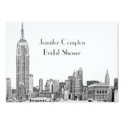 Nyc Skyline 01 Etched Wht Bridal Shower